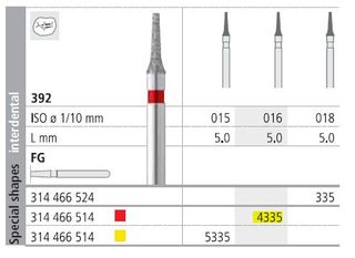 INTENSIV DIAMOND BUR 4335 FINE (392-016) FG/6