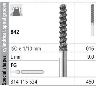 INTENSIV DIAMOND BUR 450 STD (842-016) FG/6
