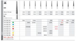 INTENSIV DIAMOND BUR 80D4 MED (859-016) FG/6