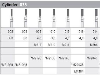 INTENSIV DIAMOND BUR 204 MINI STD (835-014) FG/6