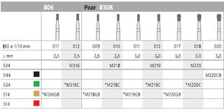 INTENSIV DIAMOND BUR 220 XCRSE (830R-020) FG/6
