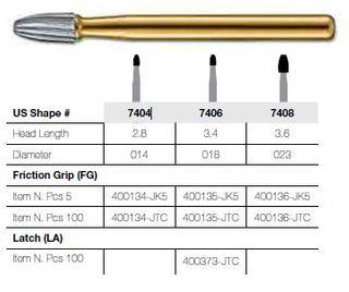 7404-5 FG JET CARBIDE EGG T&FIN PKT 5