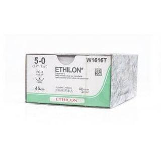 ETHILON 5/0 16MM 3/8 CC PRIME 45CM/12