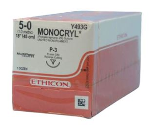 SUTURE MONOCRYL 5/0 13MM RCPRIME/12