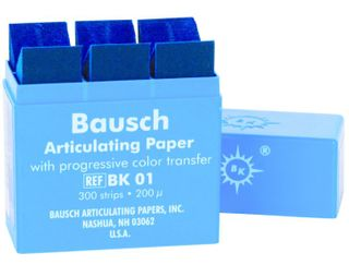 ARTICULATING PAPER STRIPS BLUE 200UM/300