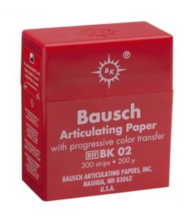 ARTICULATING PAPER STRIPS RED 200UM/300