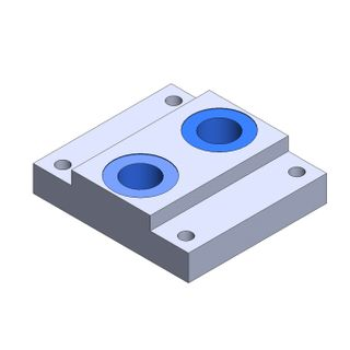 """PMC30 END PLATE - THREADED 1/4"""" BSPP"""