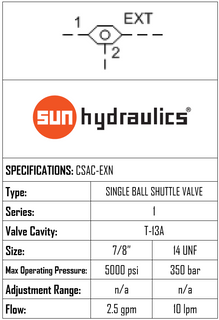 CSAC-EXN SINGLE BALL SHUTTLE VALVE WITH SIGNAL AT PORT 2