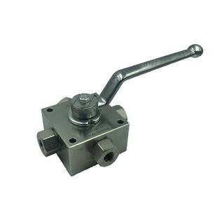 """3/4"""" KH4 Series Multi-4way Ball Valves with Threaded Connections"""