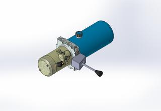 12v DC 7L/min 10-170bar 2.8L ROUND tank / horizontal mount / manual valve