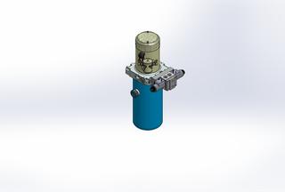 12v DC 7L/min 10-170bar 2.8L ROUND tank / vertical mount / 1 x valve