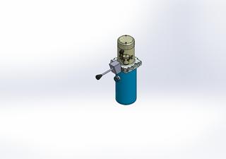 12v DC 7L/min 10-170bar 2.8L ROUND tank / vertical mount / manual valve