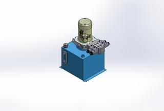 12v DC 7L/min 10-170bar 12.0L SQUARE tank / vertical mount / 2 x valve