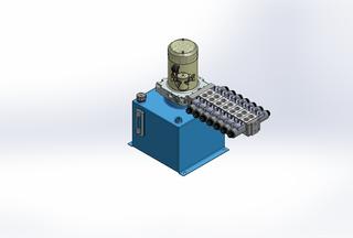 12v DC 7L/min 10-170bar 12.0L SQUARE tank / vertical mount / 7 x valve