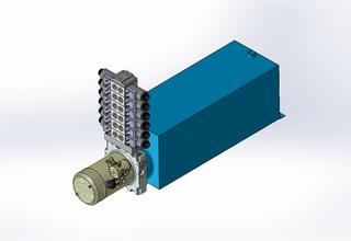 12v DC 7L/min 10-170bar 20.0L SQUARE tank / horizontal mount / 6 x valve
