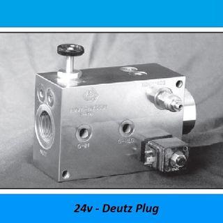 HAMMER VALVES, 380 LITER - 350 BAR, STEEL - 350 BAR, Voltage: 24V DIN Plug