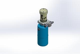 12v DC FAN ASSISTED 7L/min 10-170bar 9.0L ROUND tank / vertical mount / 1 x valve