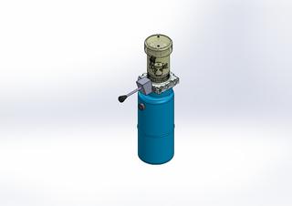 12v DC FAN ASSISTED 7L/min 10-170bar 9.0L ROUND tank / vertical mount / manual valve