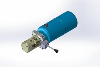 24v DC 7L/min 10-200bar 9.0L ROUND tank / horizontal mount / manual valve