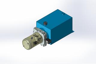 24v DC 7L/min 10-200bar 10.0L SQUARE tank / horizontal mount / lowering solenoid valve