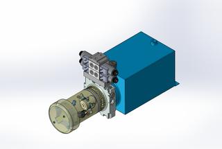 24v DC FAN ASSISTED 7L/min 10-200bar 10.0L SQUARE tank / horizontal mount / 2 x valve