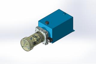 24v DC FAN ASSISTED 7L/min 10-200bar 10.0L SQUARE tank / horizontal mount / lowering solenoid valve