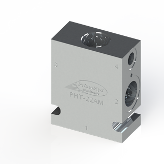 """ALUMINIUM HOUSING TO SUIT SUN HYDRAULICS CAVITY T-22A WITH 3/4"""" & 1/2"""" BSP PORTS"""