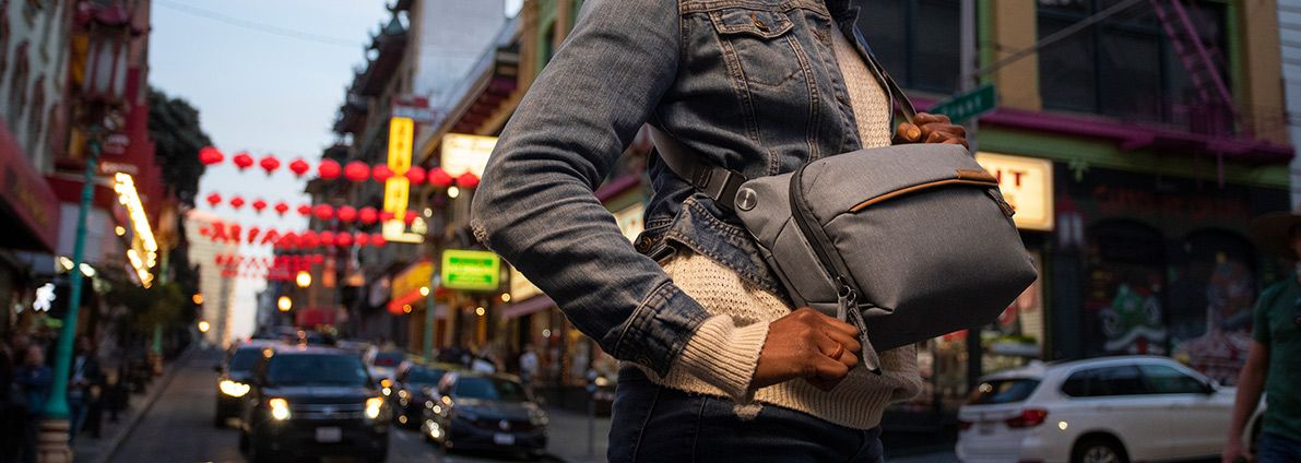 <h2>The perfect companion for minimalist, on-the-go carry</h2><p>NEW: Peak Design Everyday Sling V2</p><button>Shop Now</button>