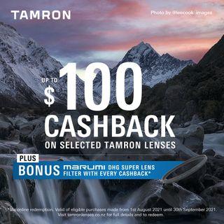 Tamron Winter Cashback & Bonus Marumi Filter