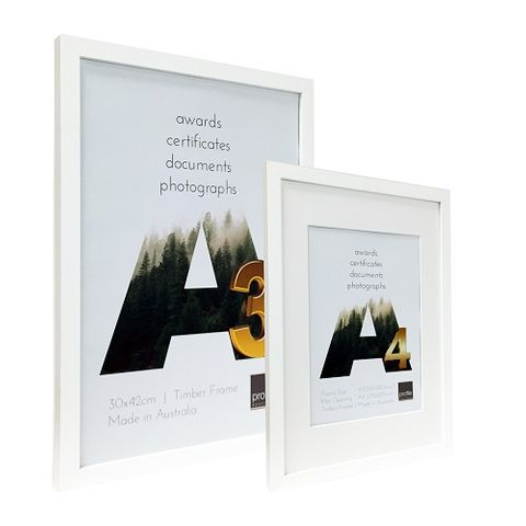 WHITE A4 CERTIFICATE FRAME