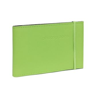 CITI LEATHER 4X6 ALBUM CITRUS GREEN