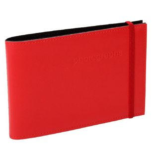 CITI LEATHER 4X6 ALBUM RED