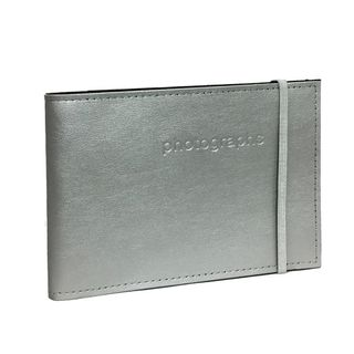 CITI LEATHER 4X6 ALBUM SILVER