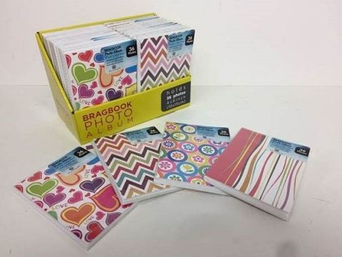 SOFT COVER BRAG BOOK ASSORTED [BOXQTY24]