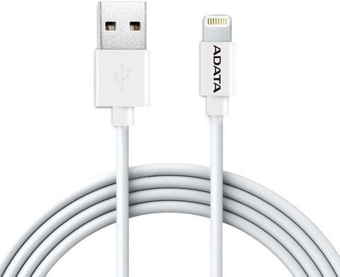 ADATA LIGHTNING CHARGE SYNC CABLE 1M APPLE MFI WHITE