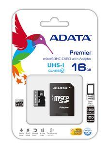 ADATA 16GB MICRO SDHC CARD CLASS 10 UHS-1 INC SD ADAPTOR
