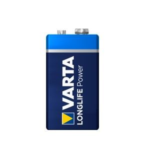 VARTA ALKALINE LONGLIFE POWER 9V 12PK