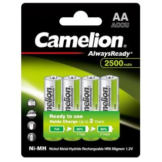 CAMELION ALWAYSREADY 2500MAH AA RECHARGEABLE 4 PACK