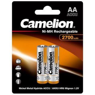CAMELION RECHARGEABLE 2700MAH AA 2PK