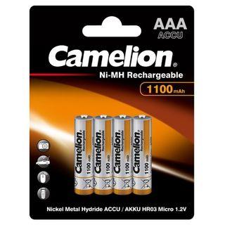 CAMELION RECHARGEABLE 1100MAH AAA 4PK