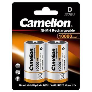 CAMELION RECHARGEABLE 10000MAH D 2PK