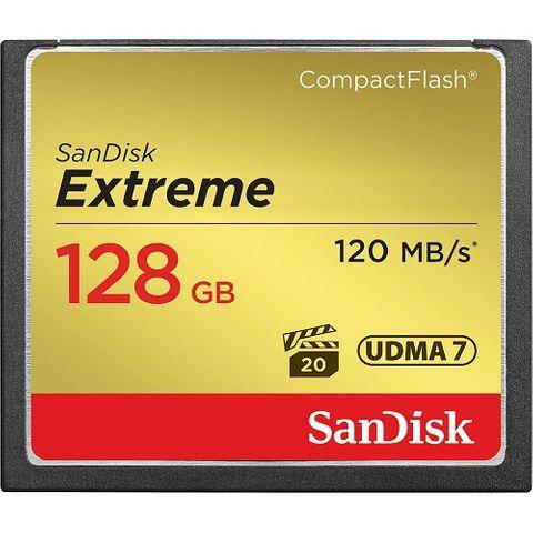 SANDISK EXTREME CF 128GB VPG20 120MB/S
