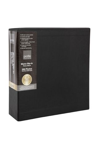 REGAL BLACK 200 PHOTOS 4X6 SLIP-IN ALBUM