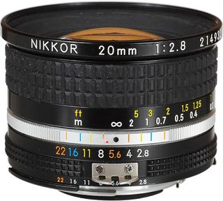 NIKKOR AI-S FX 20MM F2.8 WIDE ANGLE LENS