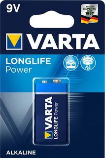 VARTA ALKALINE LONGLIFE POWER 9V 1PK
