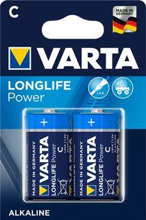 VARTA ALKALINE LONGLIFE POWER C 2PK