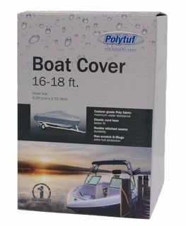 POLYTUF BOAT COVER 16-18 FT SILVER