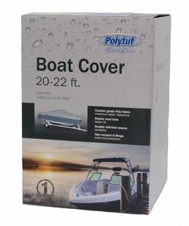 POLYTUF BOAT COVER 20-22 FT SILVER