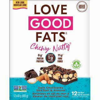 LGF BAR CHEWY NUTTY DARK CHOCO SSALT & ALMOND 40G CTN12