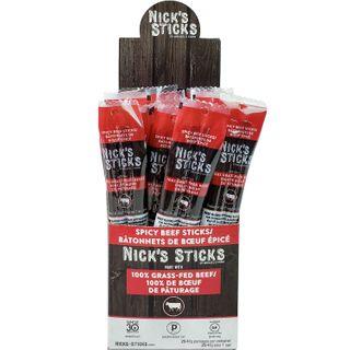 NICKS STICKS GRASS-FED BEEF STICKS SPICY 48G CTN25